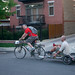 Lawyer Jim carries John on his trailer at Cargo Bike Roll Call, June 2012 by Steven Vance