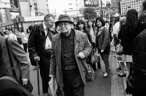 Benign looking man, Shibuya Crossing, Tokyo 2012