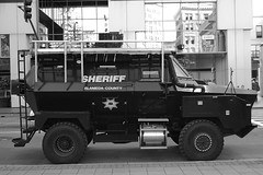 Using grant funding from the Dept. of Homeland Security, UC Berkeley is preparing to buy an armoured vehicle, which it will share with the city. Credit: Gary Dorrington/IPS