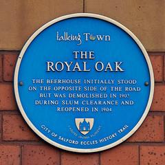 Photo of The Royal Oak, Eccles blue plaque