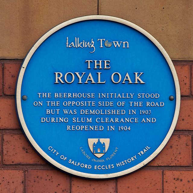 Photo of The Royal Oak, Eccles blue plaque