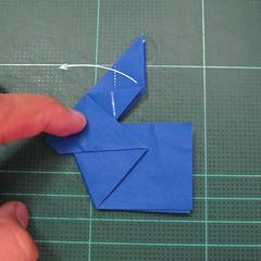 วิธีการพับกระดาษเป็นรูปกระต่าย แบบของเอ็ดวิน คอรี่ (Origami Rabbit)  019