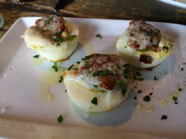 Warm deviled eggs - Marlowe
