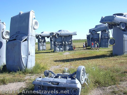 Walking around Carhenge, Nebraska