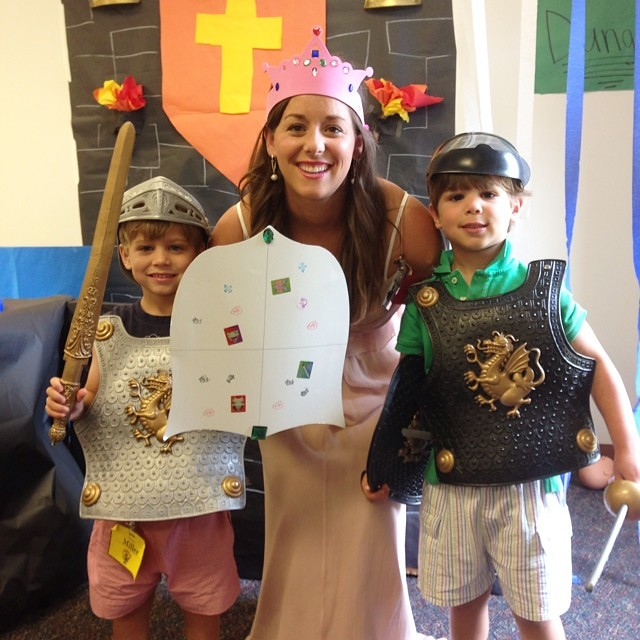 A princess with her knights. #vbs #knightlytale