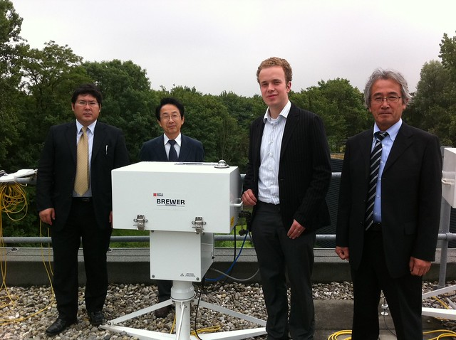 Mr. Ito of JMA, Japan visits the Delft office to see his new Brewer