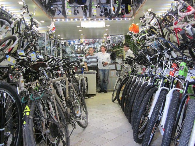 Iranian cycle shop