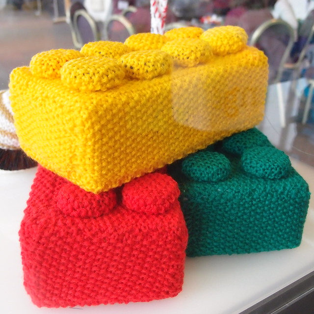 Crochet Lego Blanket : Giant crocheted Lego bricks Flickr - Photo Sharing!
