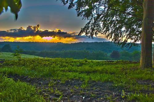 sun sunrise dawn hiking fields hdr villerslaville