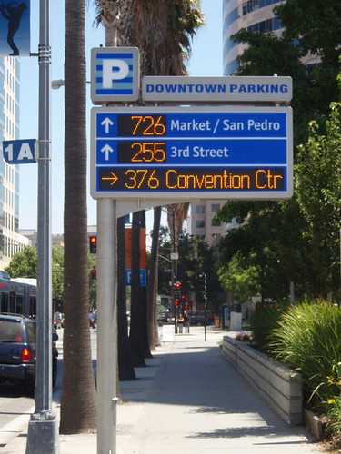 Integrated real time parking wayfinding signage, San Jose, California