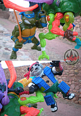 """MEGA MUTANTS"" TEENAGE MUTANT NINJA TURTLES :: NEEDLENOSE xxx / Handleholds (( 1990 ))"