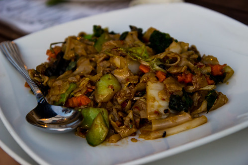 Pad Kee Mow at Smiling Banana Leaf