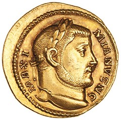 Roman gold coin cAD 295-305