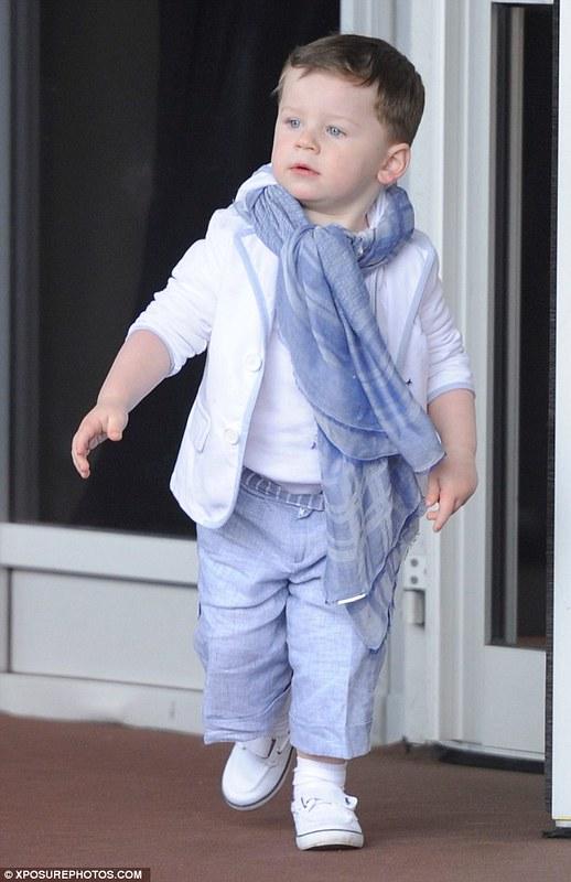 Children trendy look: Kai Rooney