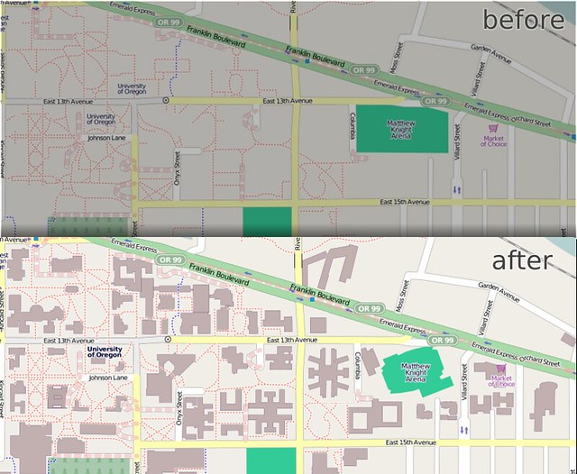 University of Oregon in OpenStreetMap