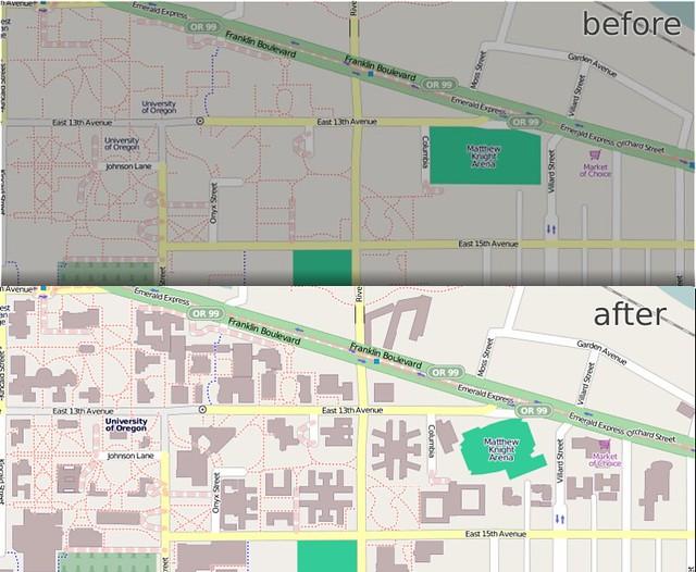 University of Oregon in OpenStreetMap