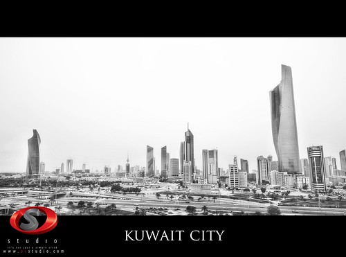 kuwait city b&w
