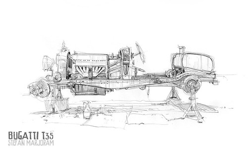 Bugatti T35 no body 1s by Stefan Marjoram
