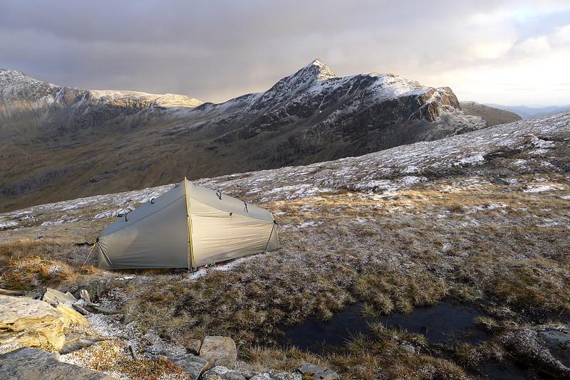 Wild camping on Beinn Tharsuinn