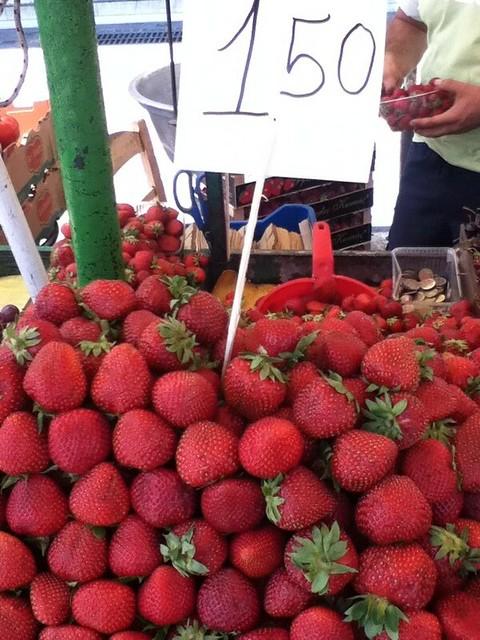 草莓1.5欧元1千克