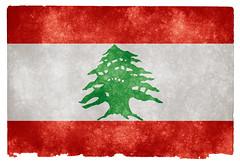 Lebanon Grunge Flag