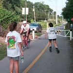 Trail users on Schuylkill Trail in Port Indian