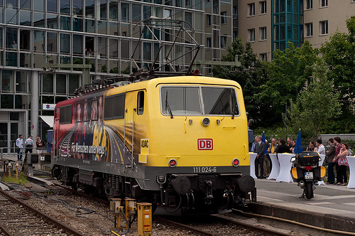Die Vorstellung der Lok erfolgte diesmal am Holzkirchner Flügelbahnhof auf Gleis 6