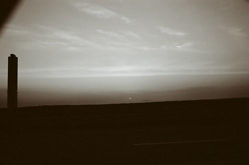 summer film sunrise canon kodak southcarolina solstice canona1 kodakbw400cn 2012 lakemurray lakemurraydam bwfp