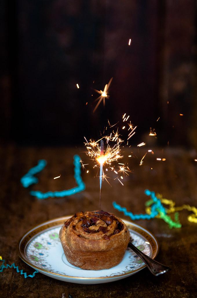 Brandied Raisin Rolls to celebrate