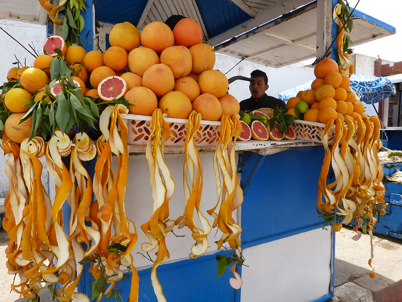 Orange juice in Essaouira