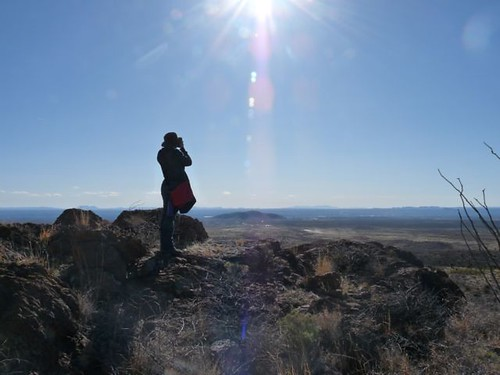 My daughter in the Organ Mountains