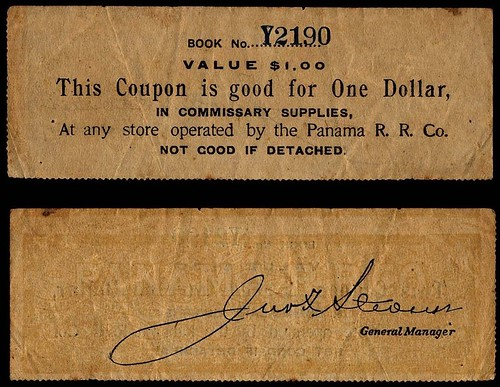 Panama Rail Road Co. one dollar note