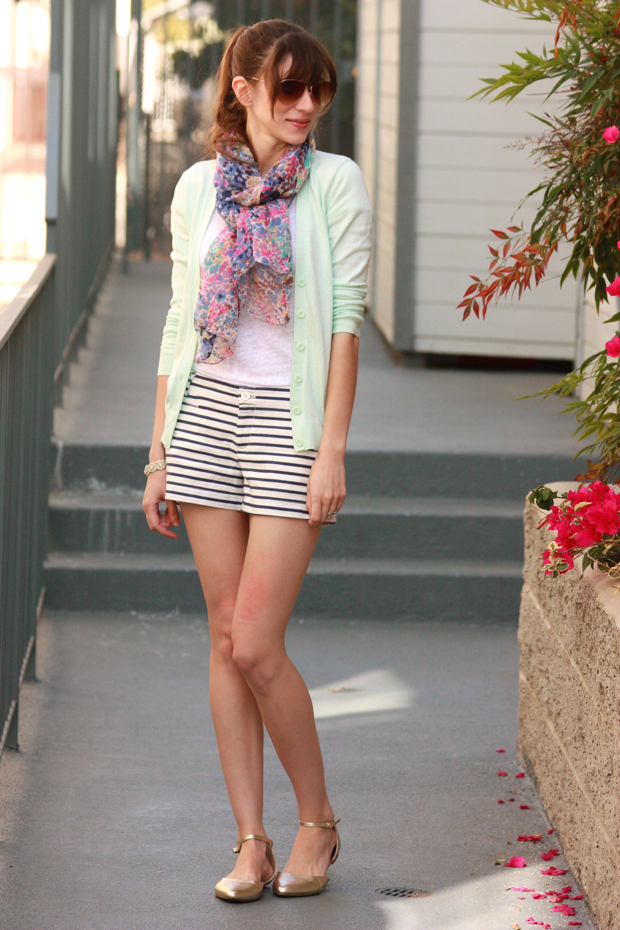 Striped Shorts, Pastels