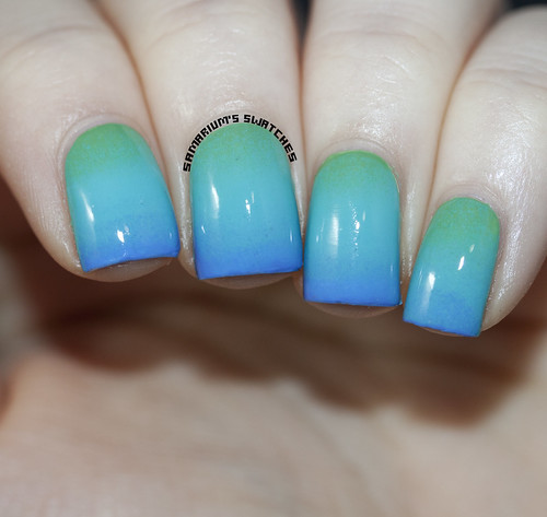 Milani Gradient with Showy Sea-Green Aqua Brisk and Power Periwinkle