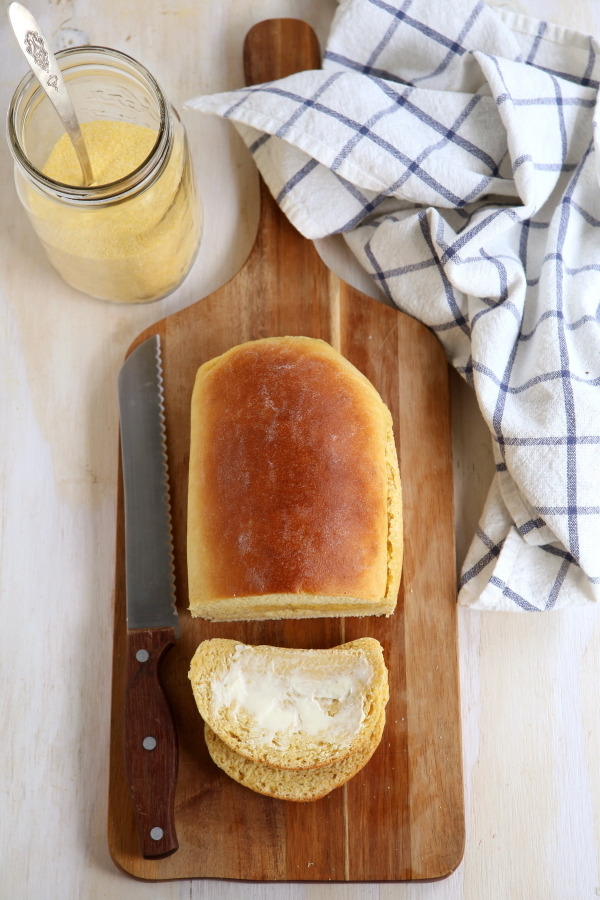 Yeasted Honey Cornbread Loaf
