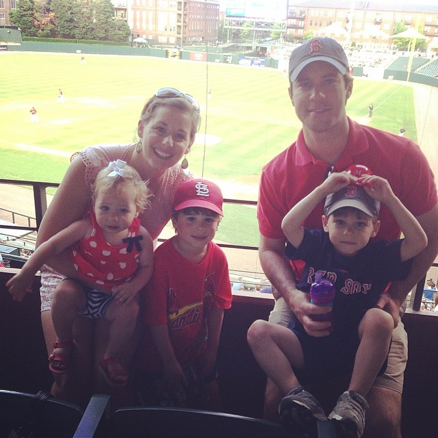 Summer has officially started for the Spence family! #memphisredbirds