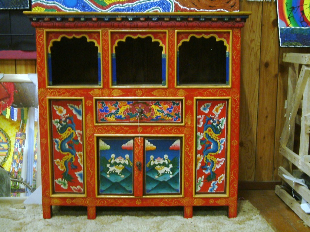 Tibetan Furniture   Cupboard / Altar