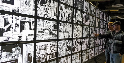 visualization of one million manga pages on HIPerSpace