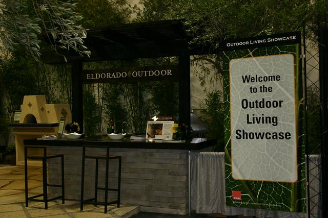 Eldorado outdoor booth in the outdoor living showcase for Eldorado outdoor