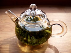 Tea Leaves Steeping