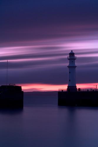 ocean longexposure sunset sea water coast edinburgh harbour newhaven