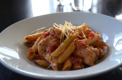 Creamy Parmesan & sun dried tomato chicken pasta.