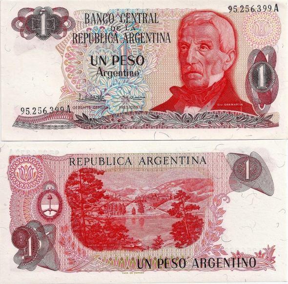 1 Peso Argentino Argentína 1983-84, Pick 311