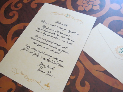 Princess Tiana Letter