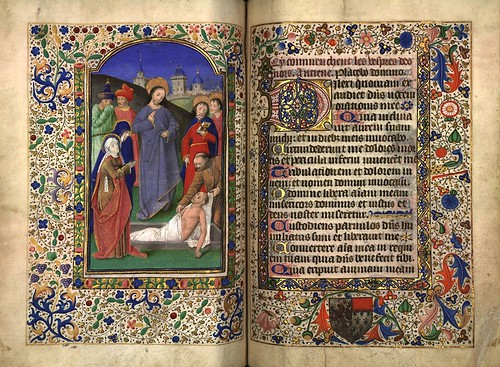 014-Resurreccion de Lazaro-Fol. 118 verso-Heures d'Isabeau de Roubaix- Bibliothèque numérique de Roubaix  MS 6