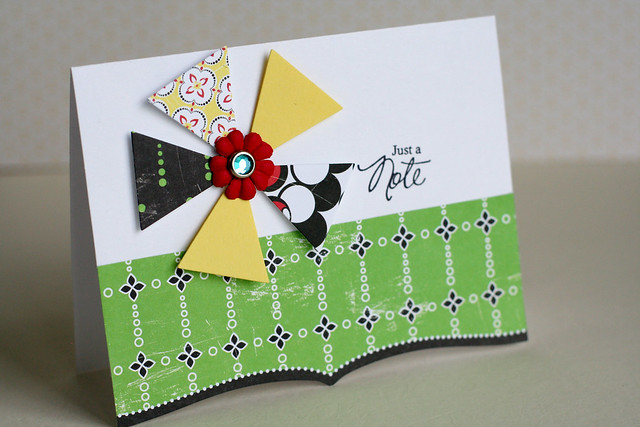 Triangle flower birthday card cosmo cricket hello sunshine
