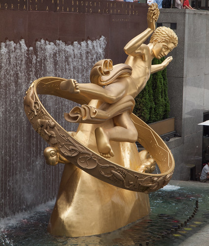Prometheus alias The Golden Boy, Rockfeller Center NYC
