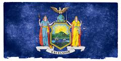 New York State Grunge Flag