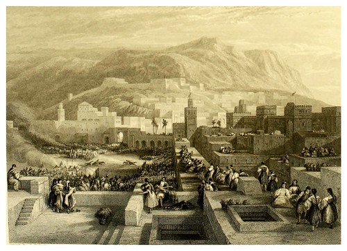 009-Gran plaza de Tetuan-Picturesque views in Spain and Morocco…Tomo II-1838-David Roberts