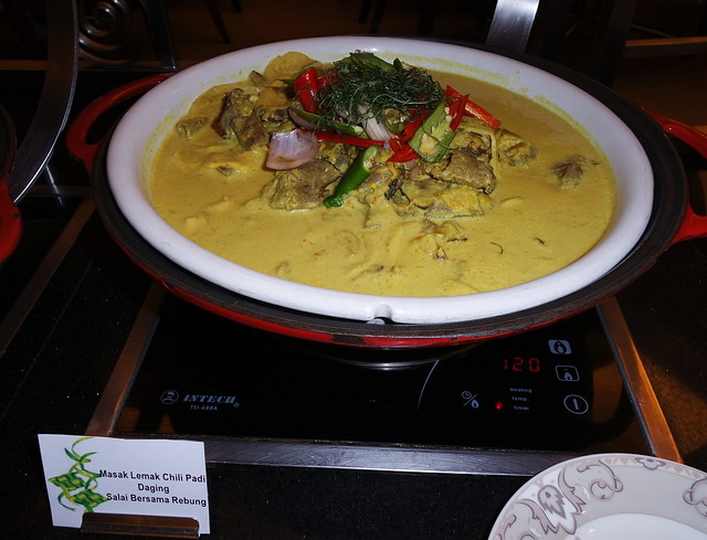 The Masak Lemak Cili Padi Daging Salai Bersama Rebung, one of Chef Zubir's signature dishes